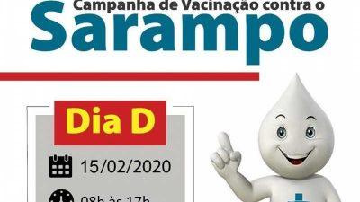 Dia D de Vacinação Contra o Sarampo acontece neste sábado (15) e vai imunizar pessoas entre 05 e 19 anos