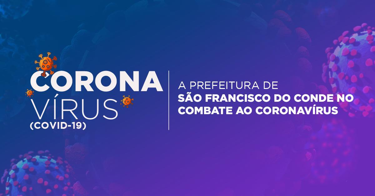 Prefeitura de São Francisco Conde publica Decreto Municipal com medidas de prevenção e controle para enfrentamento do COVID-19