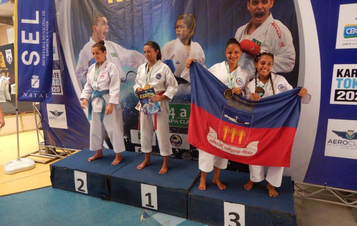 Karatecas franciscanos conquistaram 10 medalhas no Campeonato Brasileiro Interclubes