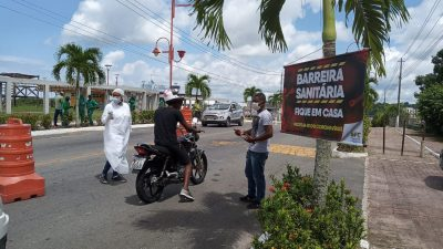 São Francisco do Conde faz barreiras sanitárias para o enfrentamento da COVID-19