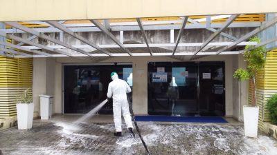 Município realiza desinfecção de espaços públicos