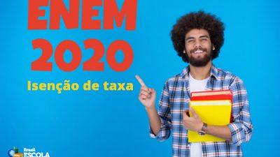 Enem 2020: Pedidos de isenção de taxa e justificativas de ausência devem ser feitos até o dia 17 de abril #SeLigueNoENEM