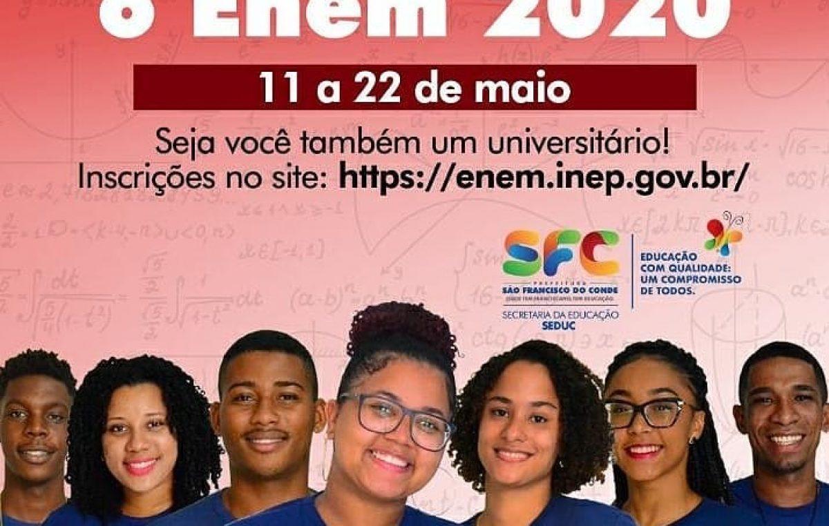 Inscrições para o ENEM 2020 se encerram nesta sexta-feira (22)