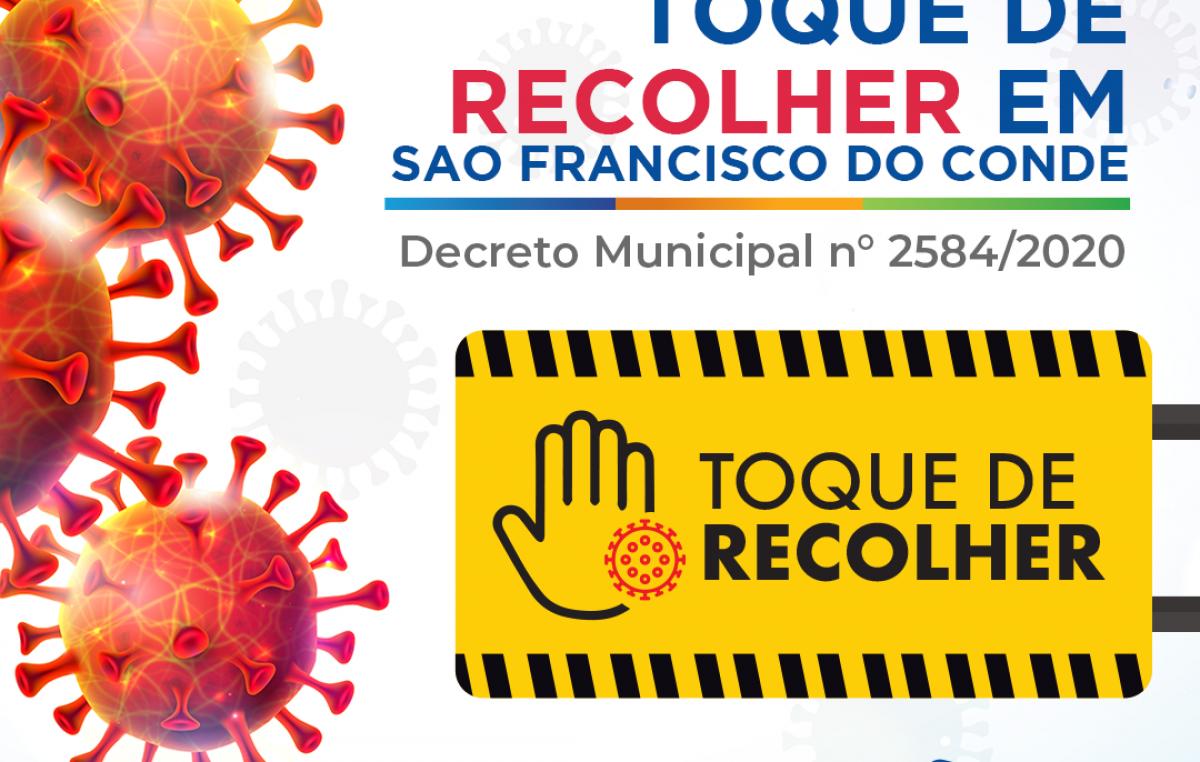 Decreto Municipal determina Toque de Recolher em São Francisco do Conde