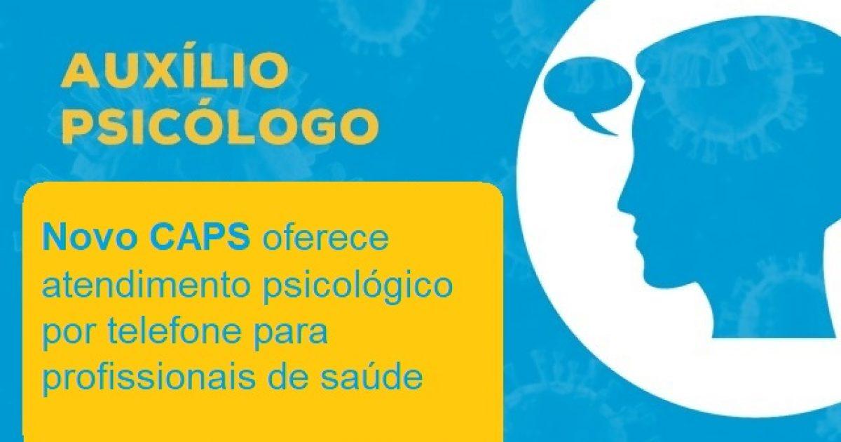 Saúde oferece atendimento psicológico para profissionais da saúde durante pandemia da COVID-19