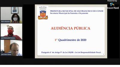 SEFAZ: Contas municipais são apresentadas em live – Audiência Pública