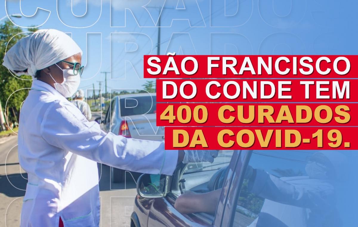São Francisco do Conde comemora 400 casos curados da COVID-19