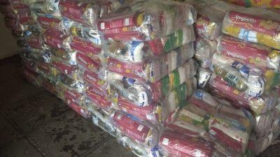 Enfrentamento à COVID-19: Novas cestas básicas são doadas no município