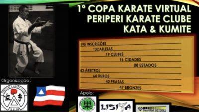 Em mais uma competição, que foi realizada on-line, caratecas franciscanos conquistaram 16 medalhas