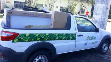 Veículo e equipamentos que foram entregues pelo Governo do Estado ajudarão ainda mais para o fortalecimento da agricultura familiar em São Francisco Conde