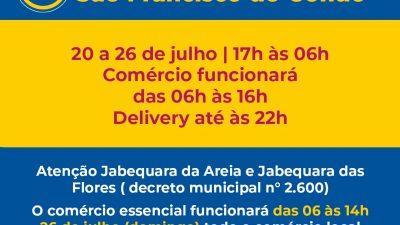 Bairro da Jabequara terá Toque de Recolher a partir das 17h e funcionamento do comércio até às 14h, exceto delivery