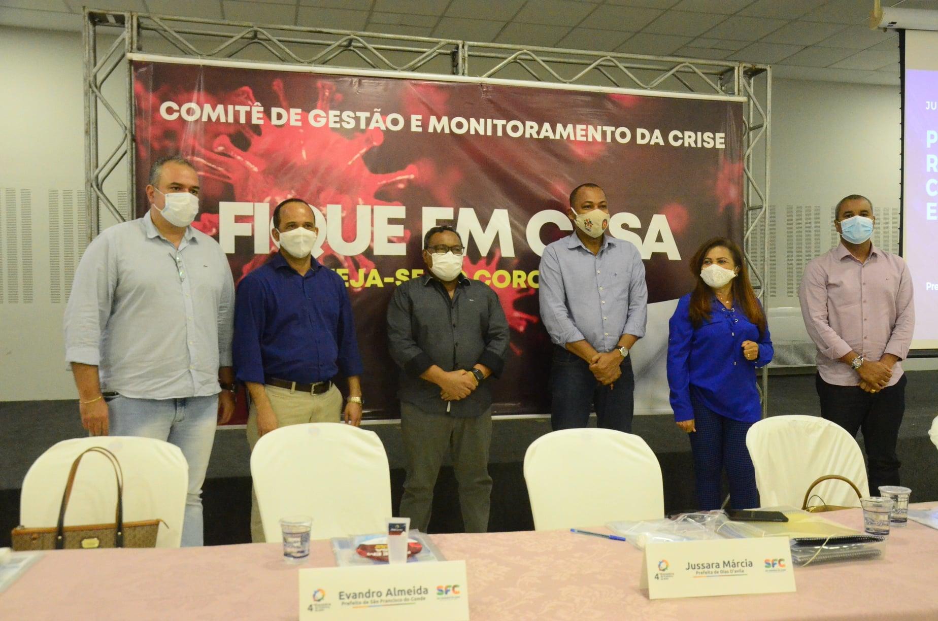 Prefeitos da Região Metropolitana de Salvador se reuniram em São Francisco do Conde e definiram sobre a reabertura do comércio