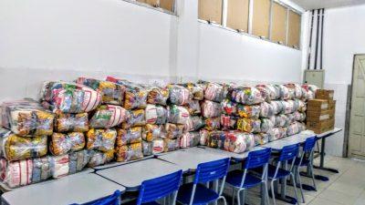 Equipe de Nutrição da SEDUC faz visita técnica às unidades escolares durante entrega dos Kits de Alimentação Escolar