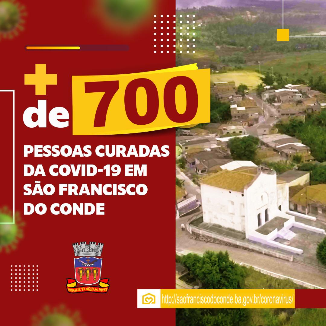 São Francisco do Conde superou os 700 casos curados e apresenta 94% de cura da COVID-19