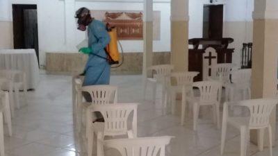 Em São Francisco do Conde, todos os templos religiosos da sede já passaram por desinfecção