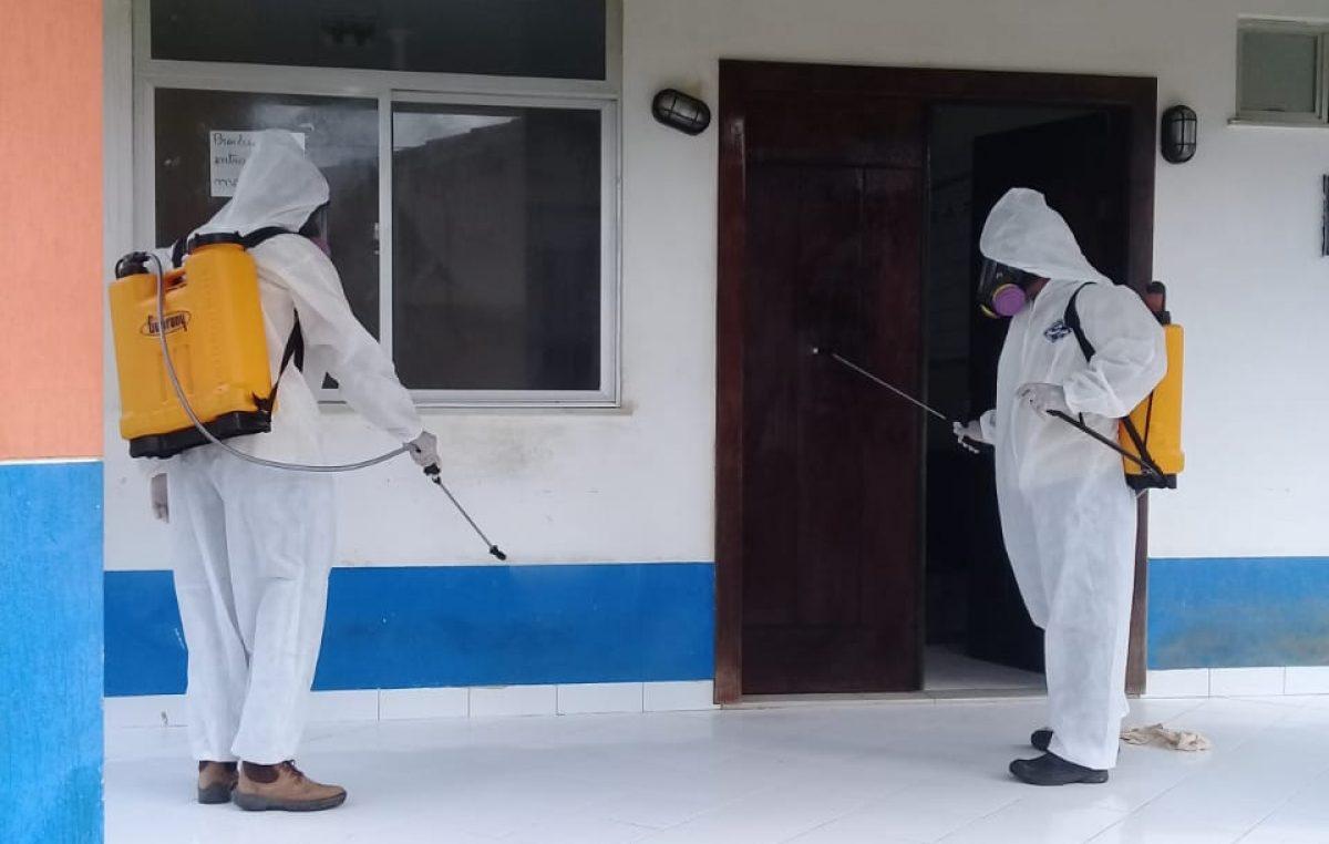 Prefeitura realizou a desinfecção de 100% das Unidades de Saúde da Família em 30 dias
