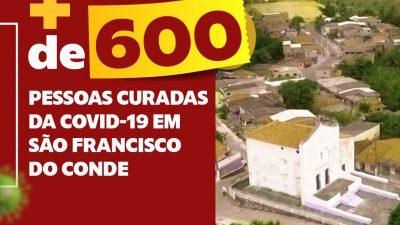 São Francisco do Conde superou 600 pessoas curadas da COVID-19