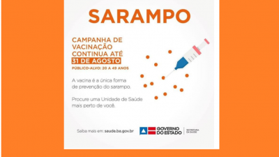 São Francisco do Conde segue vacinando contra o sarampo até 31 de agosto