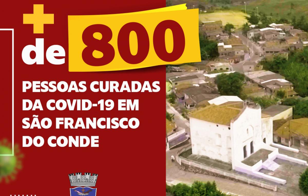 São Francisco do Conde supera os 800 casos curados da COVID-19