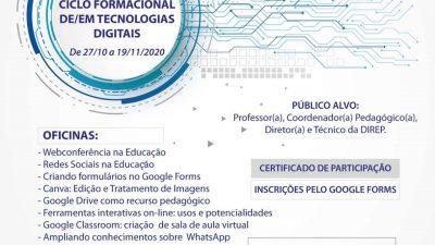 """""""I Ciclo Formacional de/em Tecnologias Digitais"""" está com inscrições abertas para mais uma semana de oficinas"""