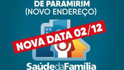Prefeitura divulga nova data para a Entrega da Unidade de Saúde da Família de Paramirim