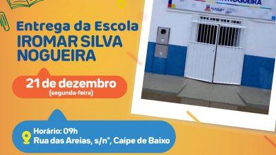 Escola Municipal Iromar Silva Nogueira é requalificada e será entregue na segunda-feira (21)