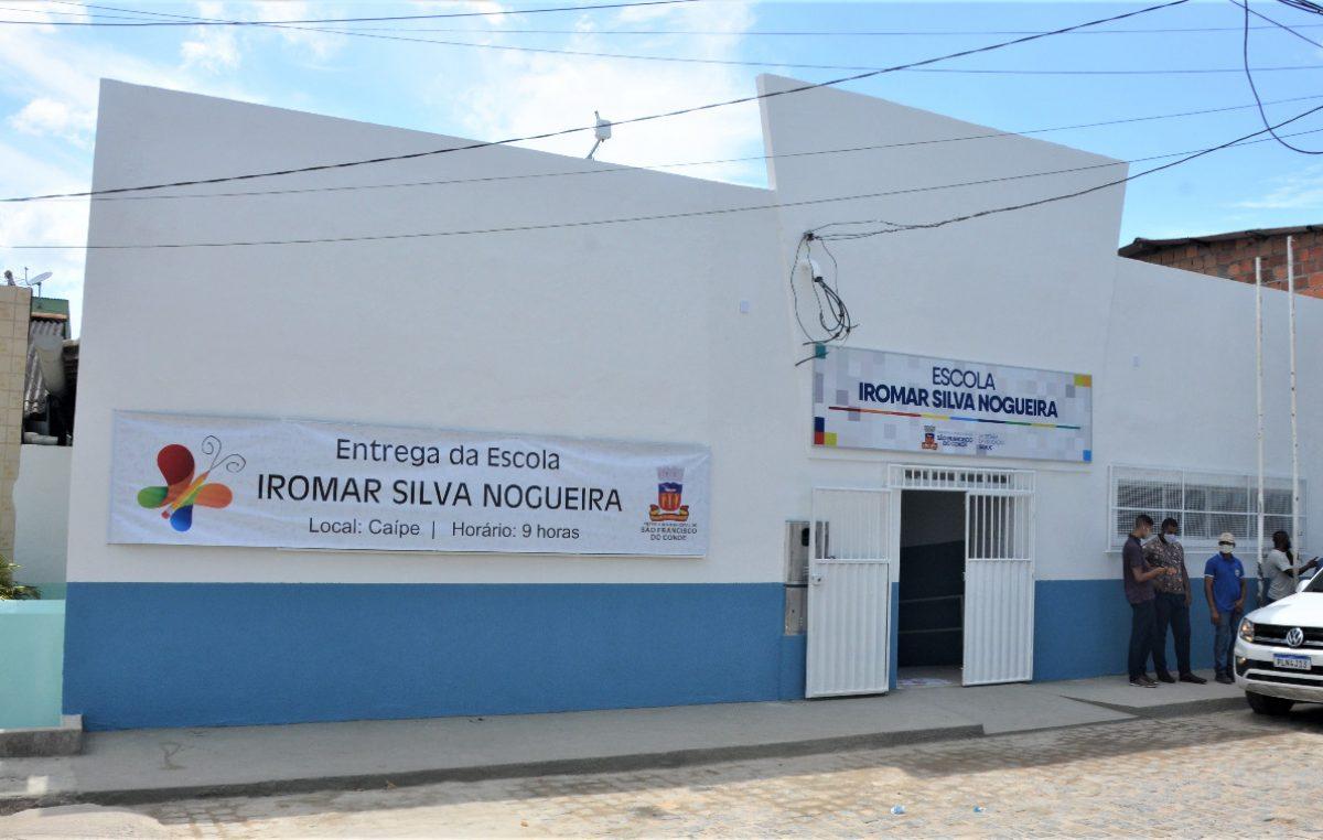 Gratidão e dever cumprido: Escola Municipal Iromar da Silva Nogueira é entregue à comunidade do Caípe