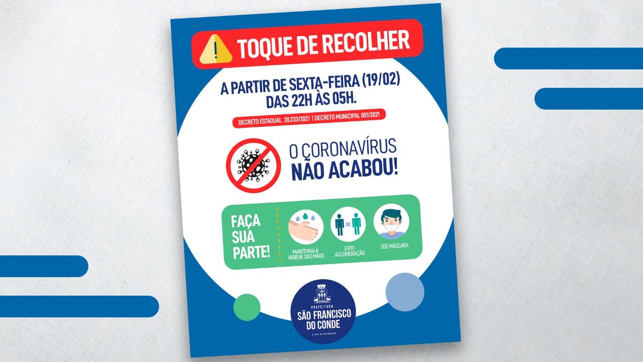 COVID-19 – São Francisco do Conde e mais 342 cidades baianas tem toque de recolher
