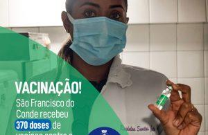 COVID-19: 370 novas doses de esperança para São Francisco do Conde