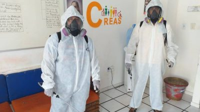 COVID-19 – Sede do CREAS passa por desinfecção para evitar o coronavírus