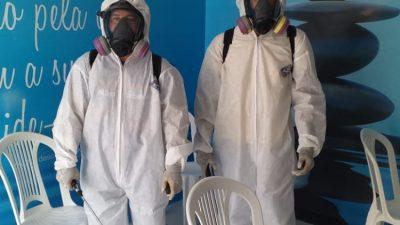 A Prefeitura realizou desinfecção de Unidades de Saúde em São Francisco do Conde