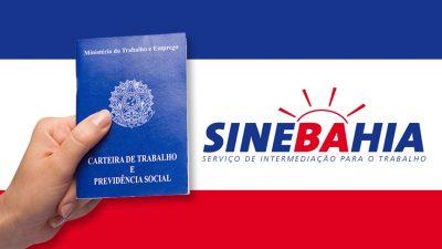 SineBahia oferece vagas de trabalho na Região Metropolitana de Salvador