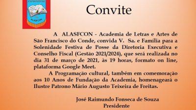 ALASFCOM celebra 10 anos e fará Solenidade de Posse da Diretoria Executiva e Conselho Fiscal, de forma online