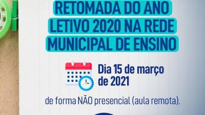 Retomada do ano letivo 2020 terá atividades não presenciais (aulas remotas)