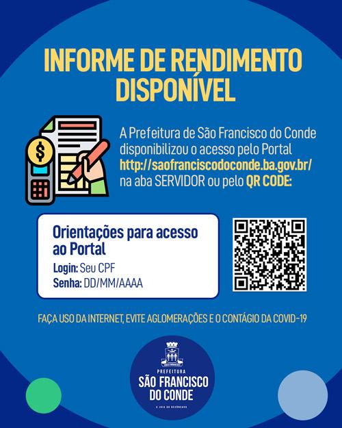 Informe de Rendimentos para Declaração de Imposto de Renda está disponível on-line