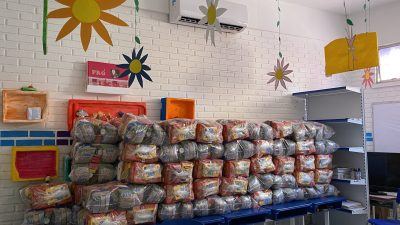 Kit Alimentação Escolar – diversas famílias de alunos já foram contempladas com a entrega dos kits