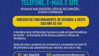 Fale com a Prefeitura: Ouvidoria atende por telefone, e-mail e site