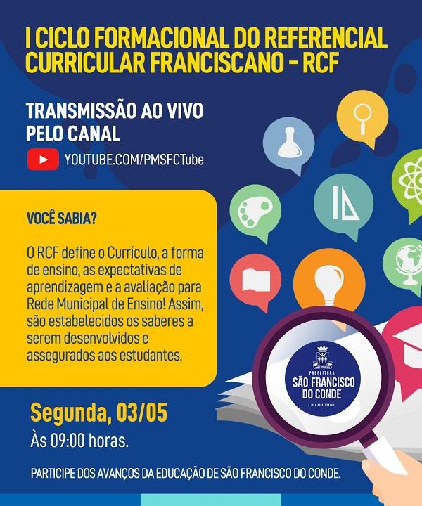 Educação promove 1º Ciclo Formacional do Referencial Curricular Franciscano – RCF