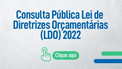 Prefeitura disponibiliza consulta pública on-line da lei de diretrizes orçamentárias (LDO) 2022