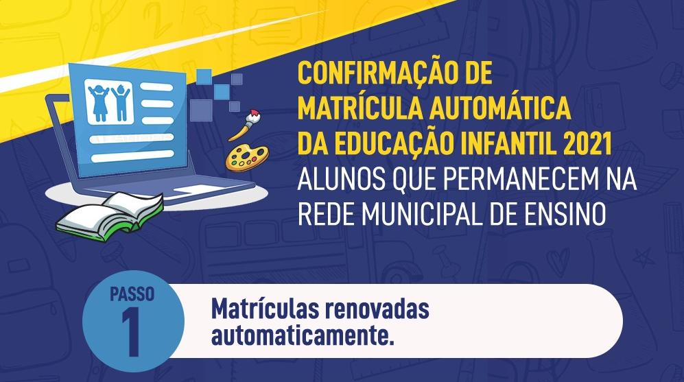 Matrículas da Educação Infantil: Conheça onde os estudantes estão matriculados no ano letivo 2021 e a transição do Grupo V para o 1° ano