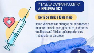 São Francisco do Conde começou a 1ª fase da campanha contra Influenza 2021