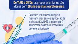 A segunda etapa da Campanha Nacional de Vacinação contra a Gripe (Influenza) começa na terça-feira (11)