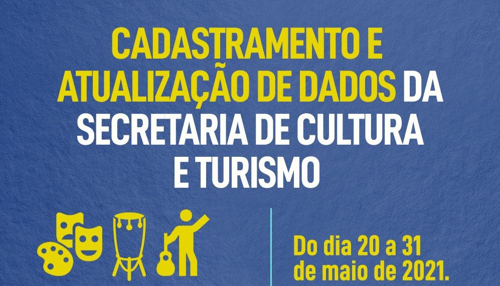 Cadastramento e Atualização dados da Secretaria de Cultura e Turismo