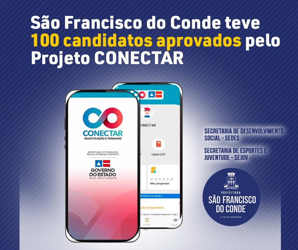 São Francisco do Conde teve 100 candidatos aprovados em Projeto profissionalizante on-line, com bolsa-auxílio