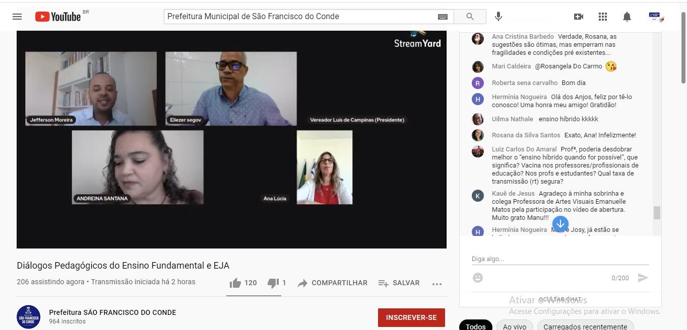 Diálogos Pedagógicos Virtuais do Ensino Fundamental e EJA 2021 teve como foco principal o uso das tecnologias para viabilizar o ensino remoto