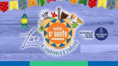 Acompanhe ao vivo a Live do Festival D'Gente 2021
