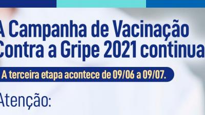 Vacinação Contra a Gripe 2021 termina em 09 de julho