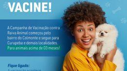 Saúde inicia campanha de vacinação de cães e gatos contra a raiva