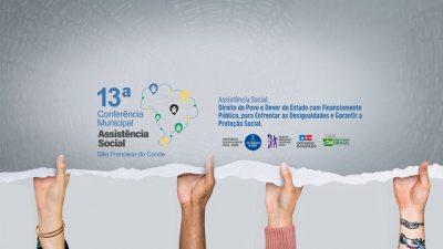 13ª Conferência Municipal de Assistência Social acontece dias 19 e 20 de agosto