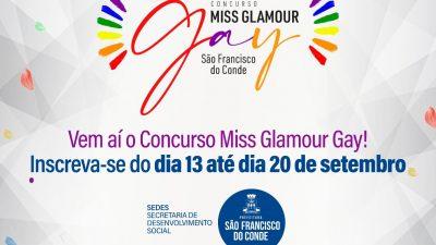 São Francisco do Conde lança edital do Concurso Miss Glamour Gay